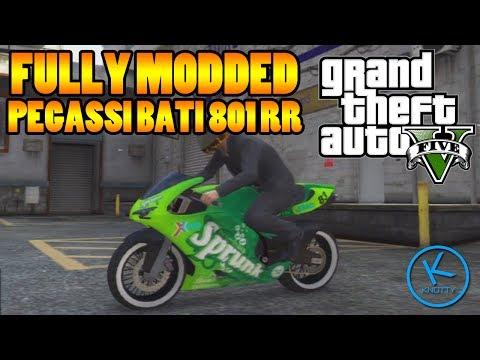 GTA V  Pegassi Bati 801RR  Ducati 1198    Motorbike Showcase  3Pegassi Bati 801rr Sprunk