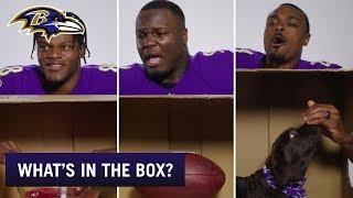 What's in the Box Challenge | Lamar Jackson, Baltimore Ravens Teammates