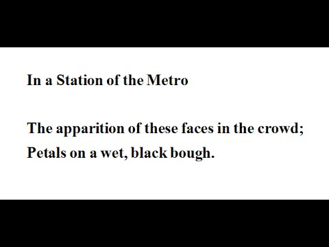 an analysis of ezra pounds poem in a station of the metro