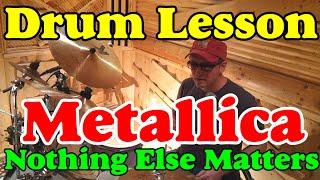 Барабаны Партия Ударных Metallica  Nothing Else Matters Урок  на барабанах | Bonus Барабанные беседы