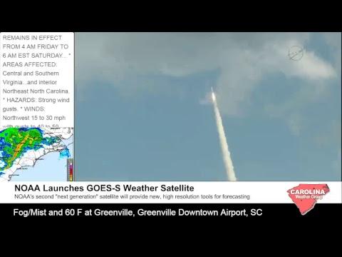 #GOESS Weather Satellite Launch