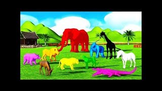 Copy of Learning Colors for Kids with Wild Animals Names for Babies and Wild Animals  for Children