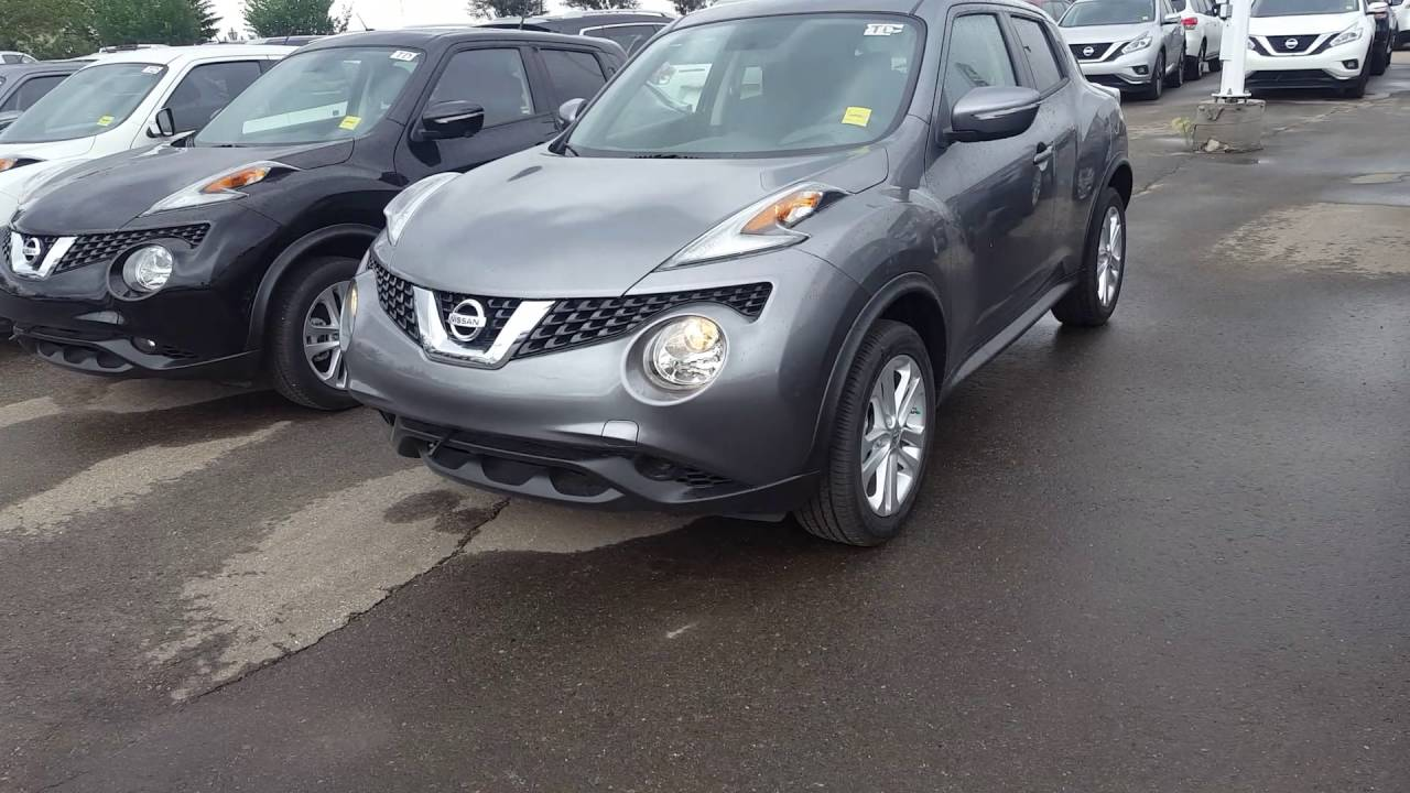 2016 nissan juke awd sv gun metallic youtube. Black Bedroom Furniture Sets. Home Design Ideas