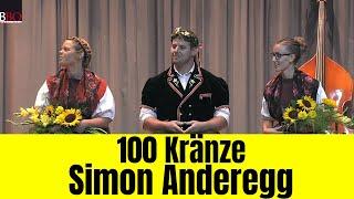 100 Kränze für Simon Anderegg  2018