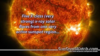 Series of Multiple X-class Solar Flare Eruptions (20141019) HD
