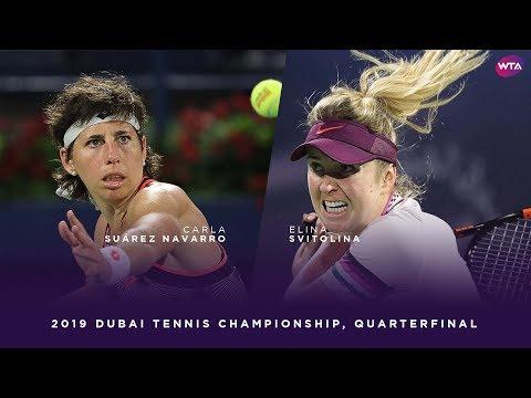 Carla Suárez Navarro vs. Elina Svitolina | 2019 Dubai Quarterfinal | WTA Highlights