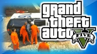 GTA 5 Online Funny Moments 18 - Going to Jail, Wizard People, and Tube Fun with Mini Coopers!