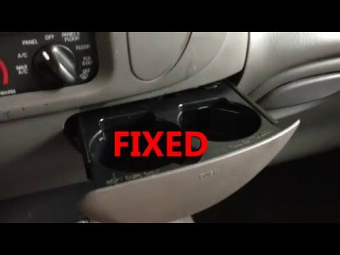 How To Replace Repair The Ash Tray Cup Holder Ford Doovi