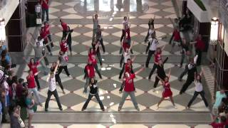 GLEE CAST -  FLASH MOB