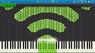WI-FI Synthesia MIDI Art