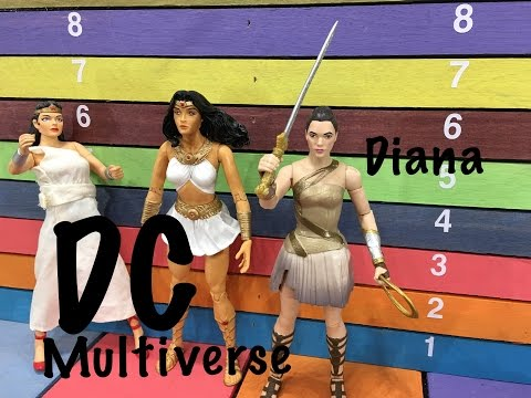 DC Multiverse Wonder Woman DIANA of THEMYSCIRA collect & connect Ares action figure toy review