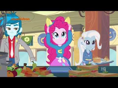 Песня в столовой НА НЕМЕЦКОМ ЯЗЫКЕ!!!! Из мультика пони девушки Эквестрии!