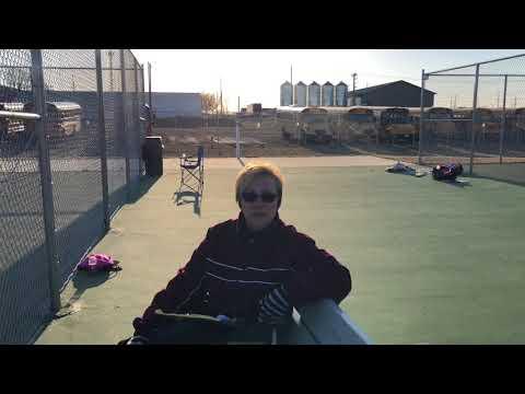 Mustangs girls tennis match against Union Community
