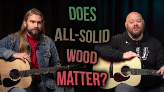 Does All Solid Wood Matter?   Martin 000-12e vs. 000-13e