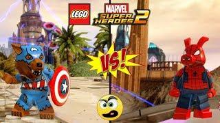 Capitão Lobo VS Porco Aranha - LEGO Marvel Super Heroes 2 - Batalha de Heróis [ Caraca Games ]
