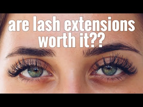 EYELASH EXTENSIONS | WORTH IT ? | PROS AND CONS | HONEST ...