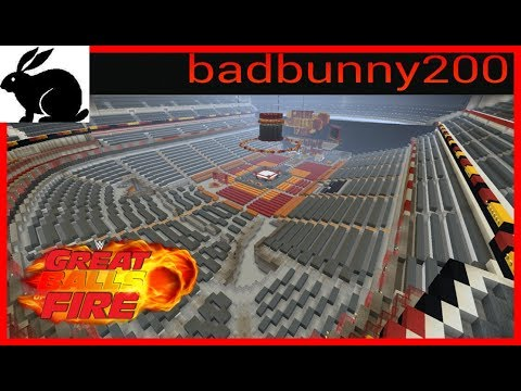 Minecraft WWE Great Balls of Fire/American Airlaines centre Dallas Texas