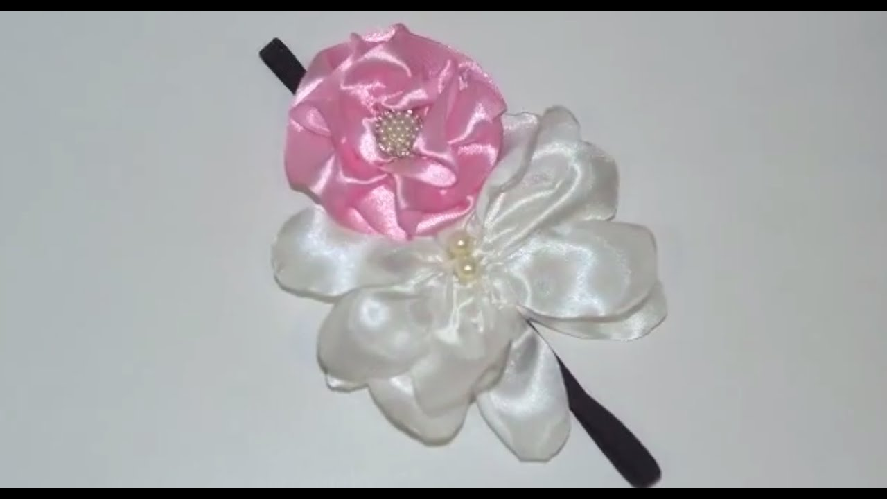 Diy Cute Silk Flower Headband Tutorial Youtube