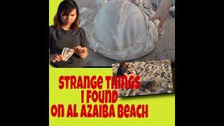 Al Azaiba beach during lockdown/ morning walk on the beach/ strange things I saw on the beach