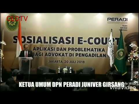 Sosialisasi e-Court Mahkamah Agung dikalangan Peradi