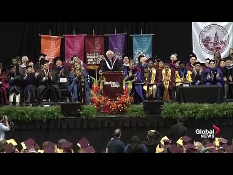 Bernie Sanders delivers commencement speech at Brooklyn College