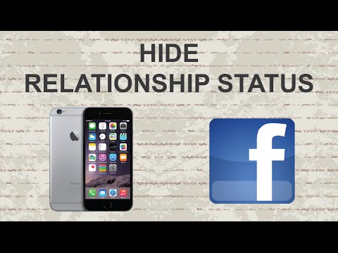 How to hide relationship date on facebook
