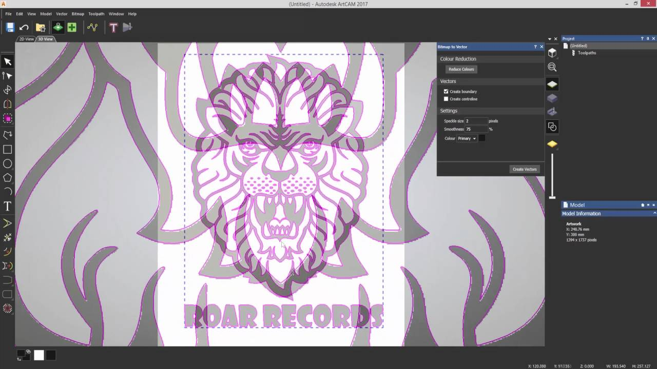 ArtCAM Free - 03-Tracing Images