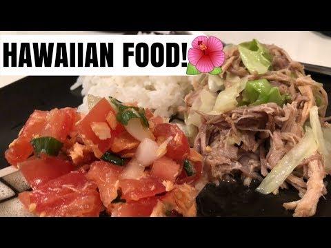 HAWAIIAN FOOD RECIPE | KALUA PORK & LOMI SALMON