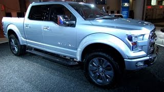 2015 Ford F-150 Atlas Concept - Exterior and Interior Walkaround - 2013 New York Auto Show(Welcome to AutoMotoTube!!! On my channel you will find short, (2-5min) walkaround videos of Cars and Motorcycles. Most of my coverage is from Auto and ..., 2013-04-06T12:27:17.000Z)