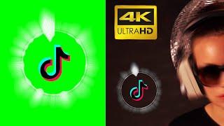 TikTok Logo Animation Green Screen Audio Spectrum   Free Download   4K 60 FPS
