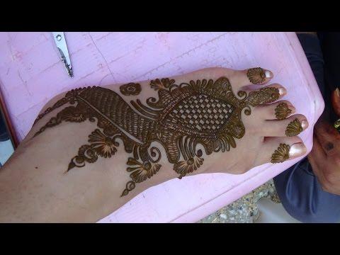 Beautiful Mehendi Design For Foot By Mehndiartistica(Best Henna Mehndi 2015)