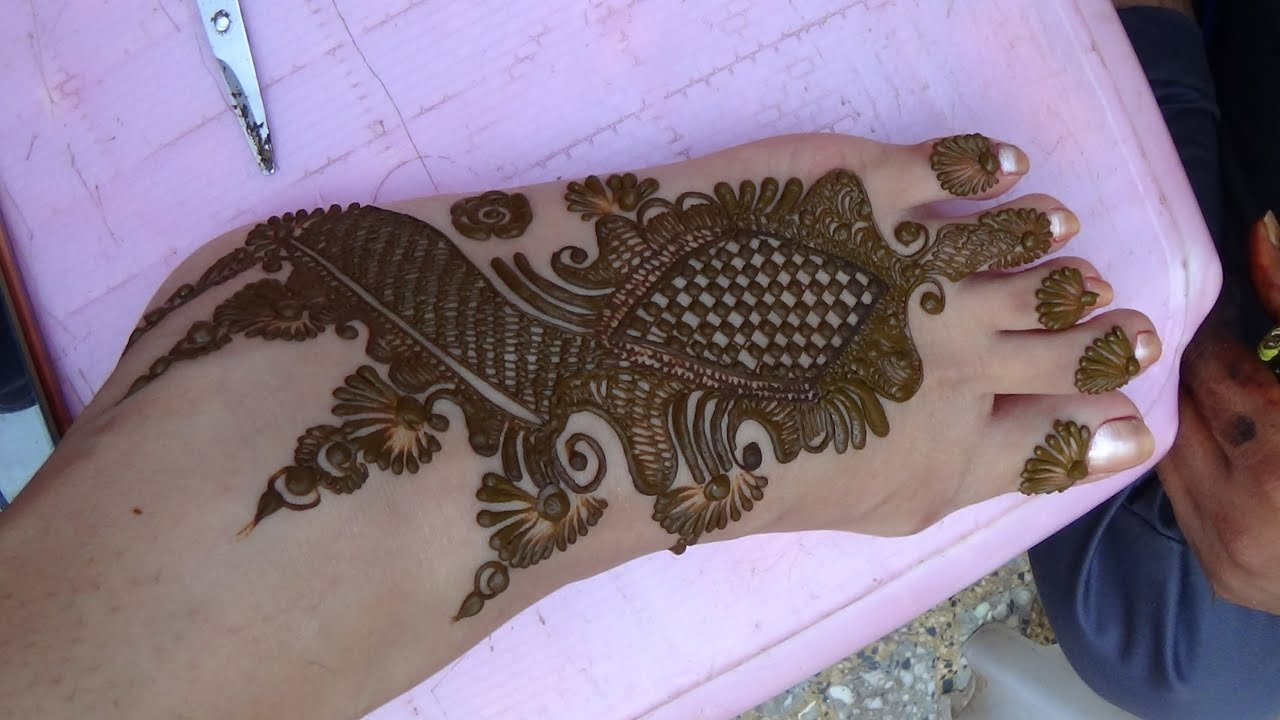 Mehndi Page Simple Mehndi Design On Foot