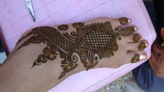 Beautiful Mehendi Design For Foot By Mehndiartistica(Best Henna Mehndi 2015)