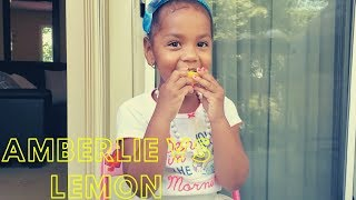 AMBERLIE VS LEMON **WHOEVER MAKES A FACE FIRST LOSES**