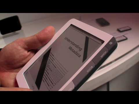"Capacitative 6"" e-reader prototype by Sagem Wireless at Mobile World Congress 2010"