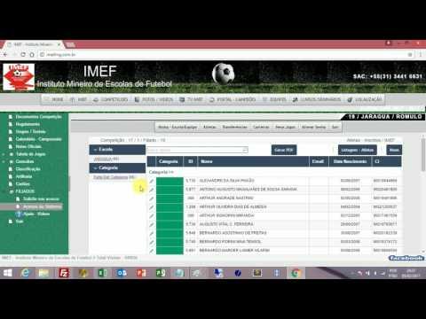 IMEF   2017 - Instruções Sistema