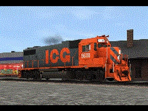 Trainz Review:  New Jointed Rail GP38-2 Model in Illinois Central Gulr Railroad Paint Scheme
