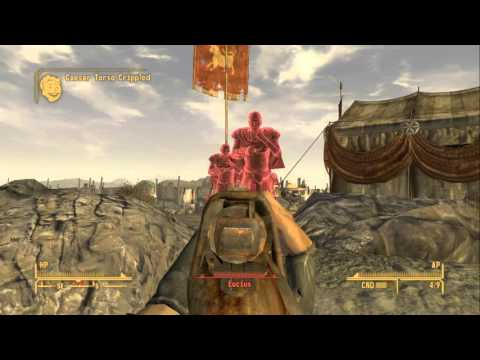 Fallout New Vegas Campaign Part 33   Secret Ceasar Bunker& 3 Vs Legion Base