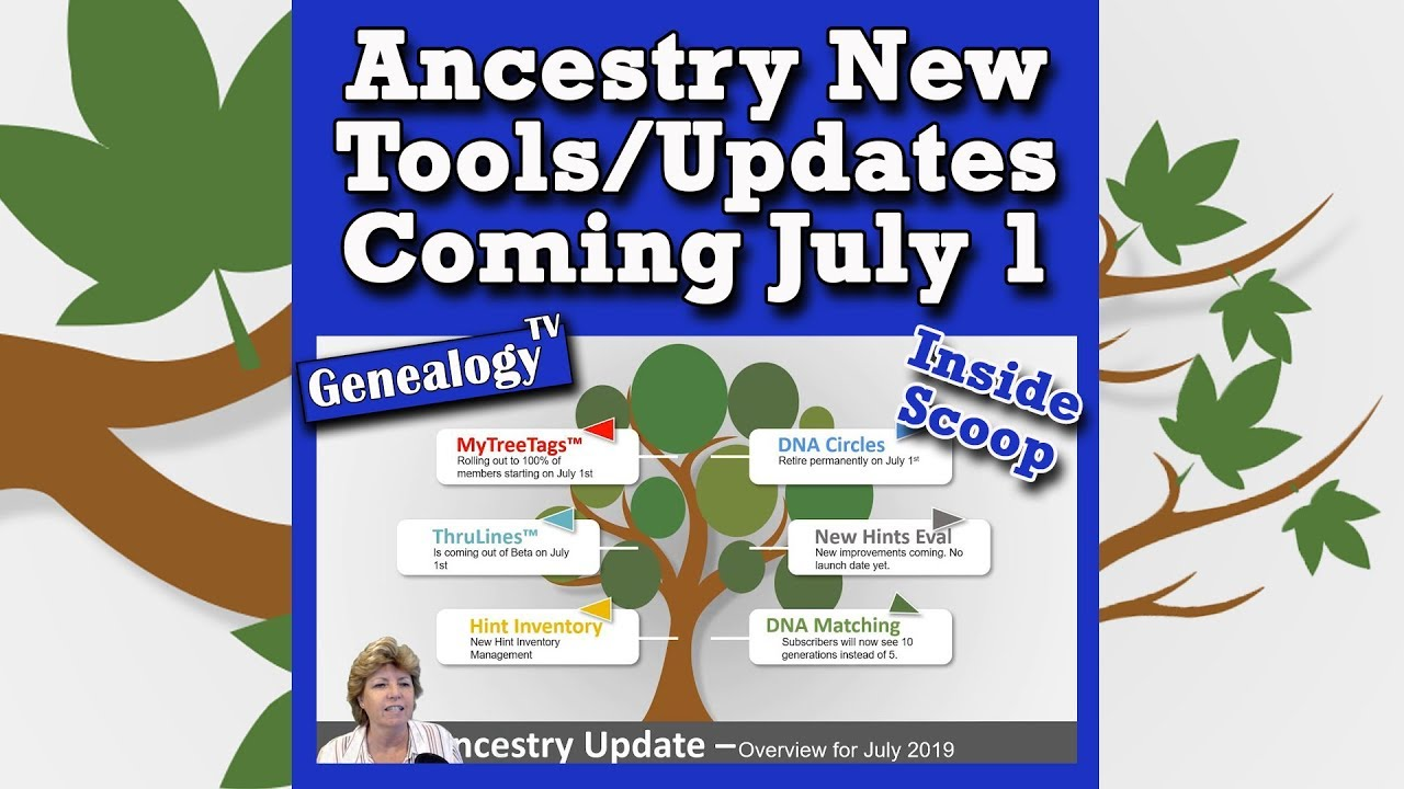 Ancestry com New Tools July 2019