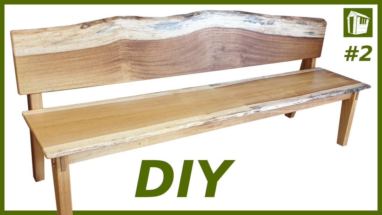 XXL Sitzbank aus Massivholz selber bauen  DIY Möbel  Teil 15