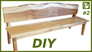 XXL Sitzbank aus Massivholz selber bauen | DIY Möbel | Teil 2