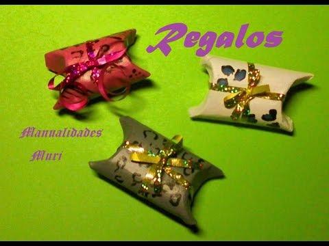 Manualidades cajita de regalo con rollo de papel higi nico muy sencillo y bonito youtube - Manualidades rollos de papel ...