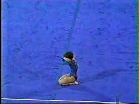 1982 USA-CHN Gymnastics Mary Lou Retton floor exercise