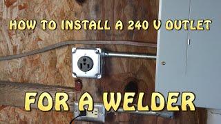 Welder Outlet 240V (Complete Installation)