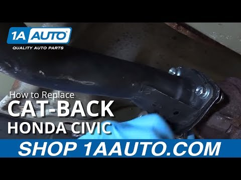 How to Replace Install Cat-Back 2001-05 Honda Civic