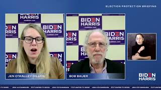 Join biden campaign manager, jen o'malley dillon and adviser, bob bauer for a discussion on election protection. our campaign: http://www.joeb...