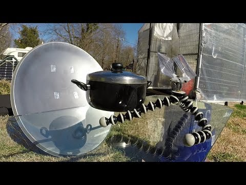 Parabolic Satellite Dish Conversion - Solar Cooker