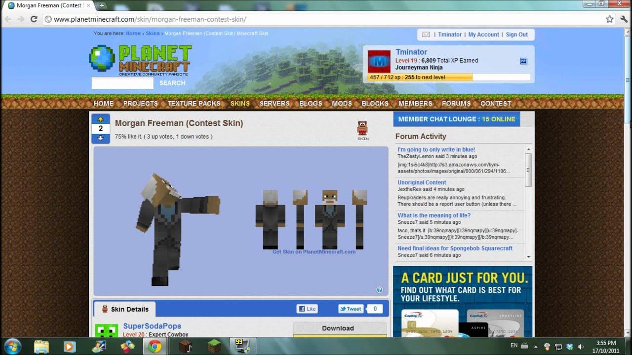 Minecraft- Top 5 Skins: Real People