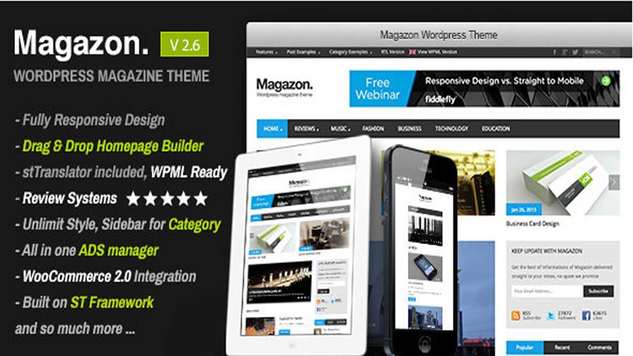 Magazon - Advanced, Responsive WP Magazine Theme v3.0 - YouTube