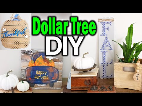 Dollar Tree DIY Wall Arts Signs ⚫ Fall Dollar Tree Room Decor 2019 ⚫